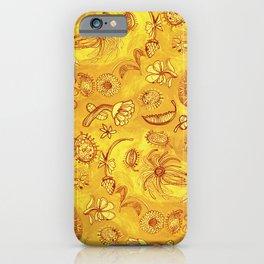 Botanicals in Mustard Yellow iPhone Case