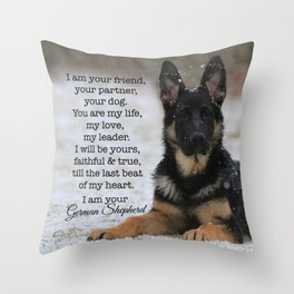 I Am Your German Shepherd Throw Pillow