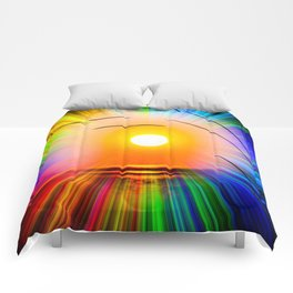 Sunset abstract Comforters