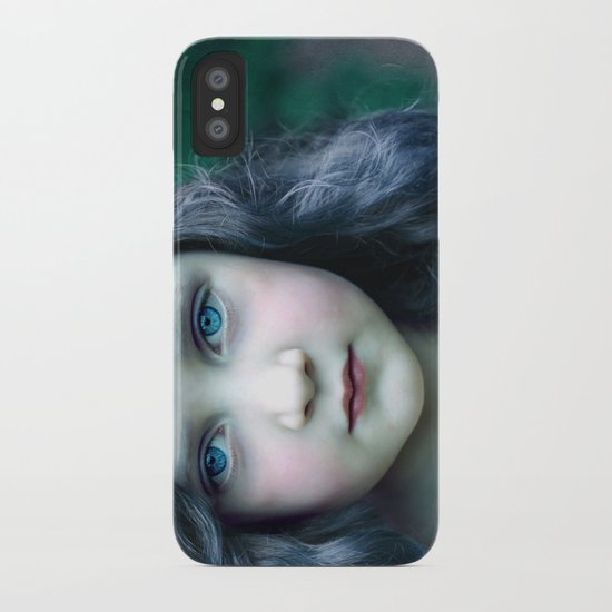 Even in my alternate universe, the rain makes my hair curl.  iPhone Case