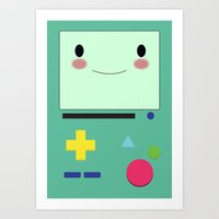 bmo Art Prints featuring BMO!!  by anthonykun