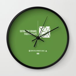 Perfect Logo Series (10 of 11) - Green Wall Clock