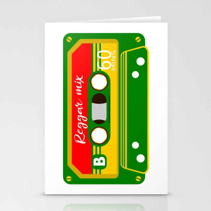 REGGAE MIX TAPE Stationery Cards by mailboxdisco