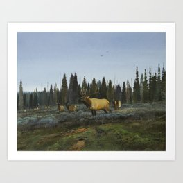 In Yellowstone - To the Call Art Print