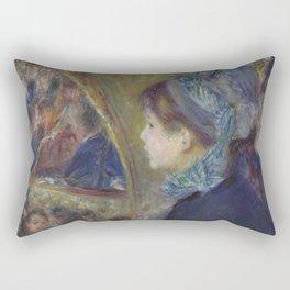 At the Theatre (La Première Sortie) by Renoir Rectangular Pillow