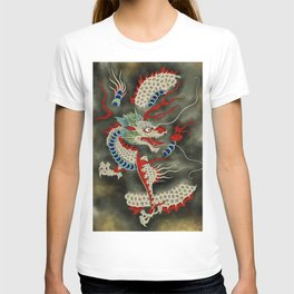 Dragon in the Cloud Type A: Minhwa-Korean traditional/folk art T-shirt