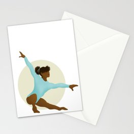 Gymnast in Color - 4 Stationery Cards