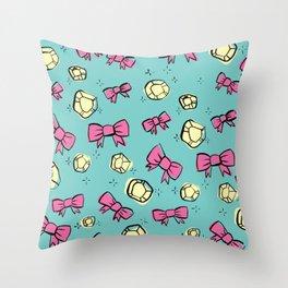 Bow & Gems Throw Pillow