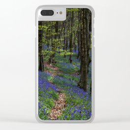 Bluebell trail at Margam woods Clear iPhone Case