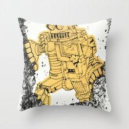 robot showbot Throw Pillow