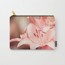 Flowering Lilium plant sepia toned image Carry-All Pouch
