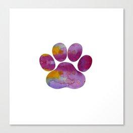 Dog Paw Canvas Print