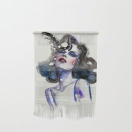 Watercolor portrait of a woman Wall Hanging