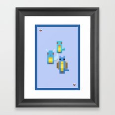 Blue Family Framed Art Print