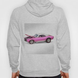 Hot Wheels Pink Party 427 SS Pony Car 67 Redline with white hardtop hood open Hoody