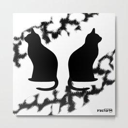 VEM cat Metal Print