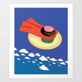 Super Cupcake Art Print