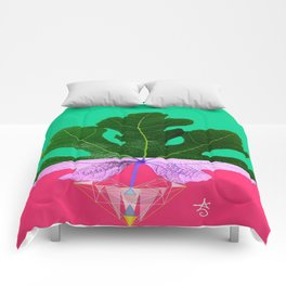 Fig Leaf Diamond Christmas - Other Half and Half Comforters