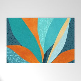 Abstract Tropical Foliage Welcome Mat