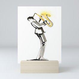 Musician Saxophonist Drawing Series Mini Art Print