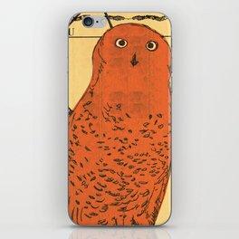 Beige Owl iPhone Skin