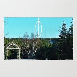 Vertical Wind Turbine Rug