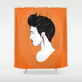 BianCamée Orangé Shower Curtain
