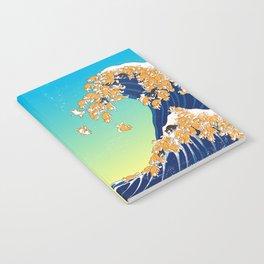 Shiba Inu in Great Wave Notebook