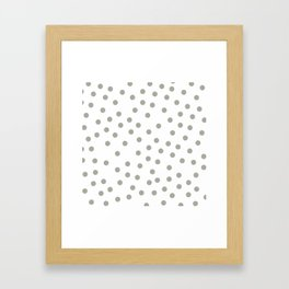 Simply Dots in Retro Gray on White Framed Art Print