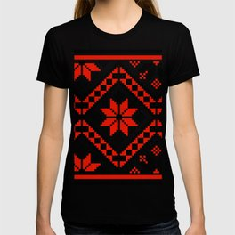 Floralline Red T-shirt