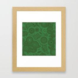 Green Agate Framed Art Print