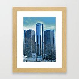 Detroit Renaissance Center (Ren Cen) GM Headquarters Framed Art Print