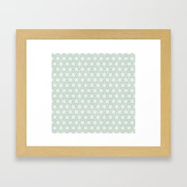 Seafoam Green Asanoha (Hemp Leaf) Pattern Framed Art Print