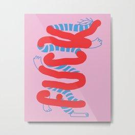 Fuck Monster 01 - Minimal Lettering Metal Print