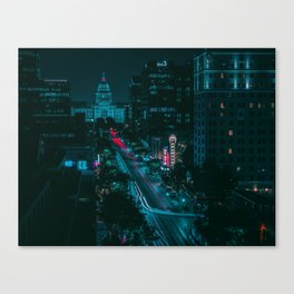 Texas State Capitol from Congress Ave Canvas Print