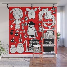 Spirit Away Characters Wall Mural