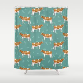 Guernseys // Spruce Shower Curtain