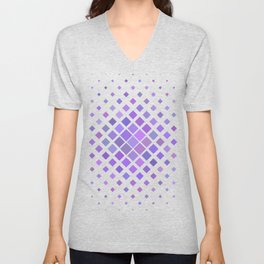 Purple Pattern Unisex V-Neck