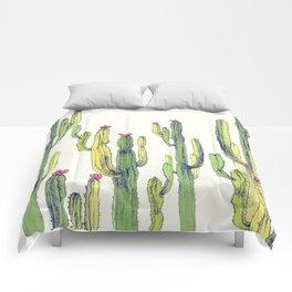 vertical cactus Comforters
