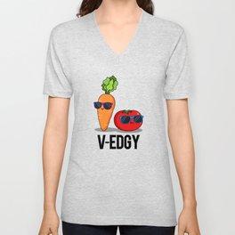 V-Edgy Cute Veggie Pun Unisex V-Neck