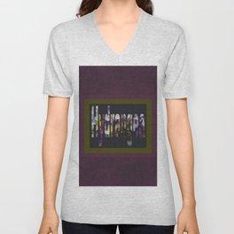 Hydrangea in Purple Unisex V-Neck