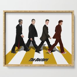 The Doctors at abbey road Serving Tray