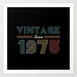 Vintage since 1975 45th Birthday Men Art Print