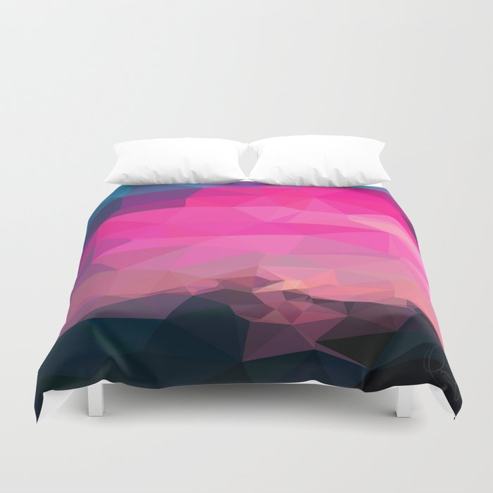 Poly-Sunrise Duvet Cover