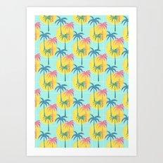 Retro Palms Art Print