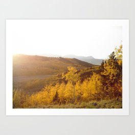 The Golden Fire Just Before Sunset Art Print