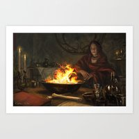 Visions of Fire Art Print
