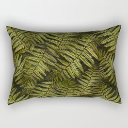 Among the ferns in the forest (military green) Rectangular Pillow