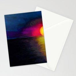 Narragansett Beach Sunset - Coastal Rhode Island landscape painting Stationery Cards