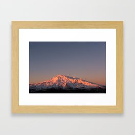 Mount Ruapehu Sunset Framed Art Print